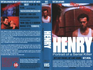 Henry: Portrait of a Serial Killer - Sleeve/Cover